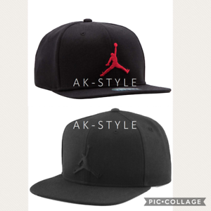 8d5be1c1 Nike Air Jordan Jumpman Cap Hat Black LUX Snapback Logo ...