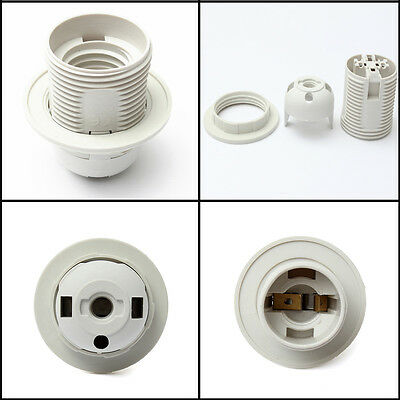 250V 5A Edison Screw ES E27 M10 Light Bulb Lamp Holder Pendant Socket Lampshade