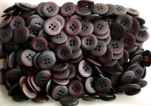 W334 18mm 28L Dark Brown Golden Brown Swirl Patterned 4 Hole Satin Buttons