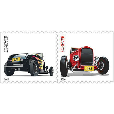 USPS New Hot Rods Forever Stamps Booklet of 20