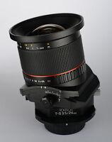 Rokinon 24mm F3.5 Wide Angle Tilt Shift Lens For Pentax Digital Slr