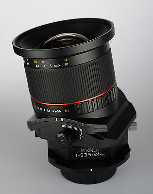 Rokinon 24mm F3.5 Tilt Shift Lens for Sony Alpha A Mount