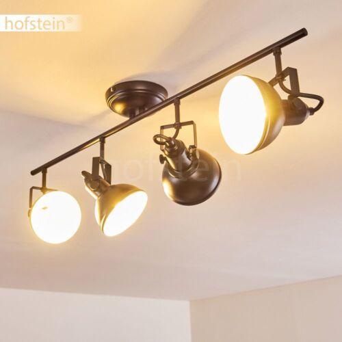 Deckenleuchte Deckenlampe Leuchtenköpfe dreh und schwenkbar schwarz 4-flammig