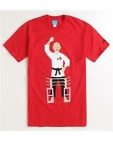Enjoi Skateboard Board Breaker Karate Tee Mens Red T-shirt