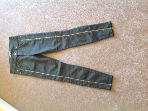 Skinny For Huntergreen laterali Cropped All Nwot lunghi Mankind 7 Fianchi Taglia 27 4UBF6