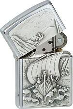 ZIPPO Feuerzeug Viking Fjord Emblem Nr. 1300093 aus der Viking Edition 2006, Neu
