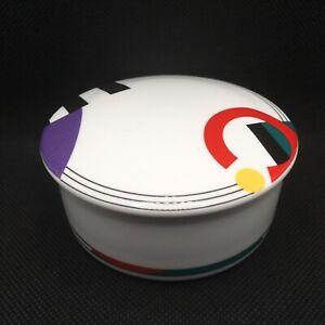 MIKASA-Maxima-High-Spirits-Trinket-Box-Japan-FX043-Jewelry-Dish-1980s-Geometric