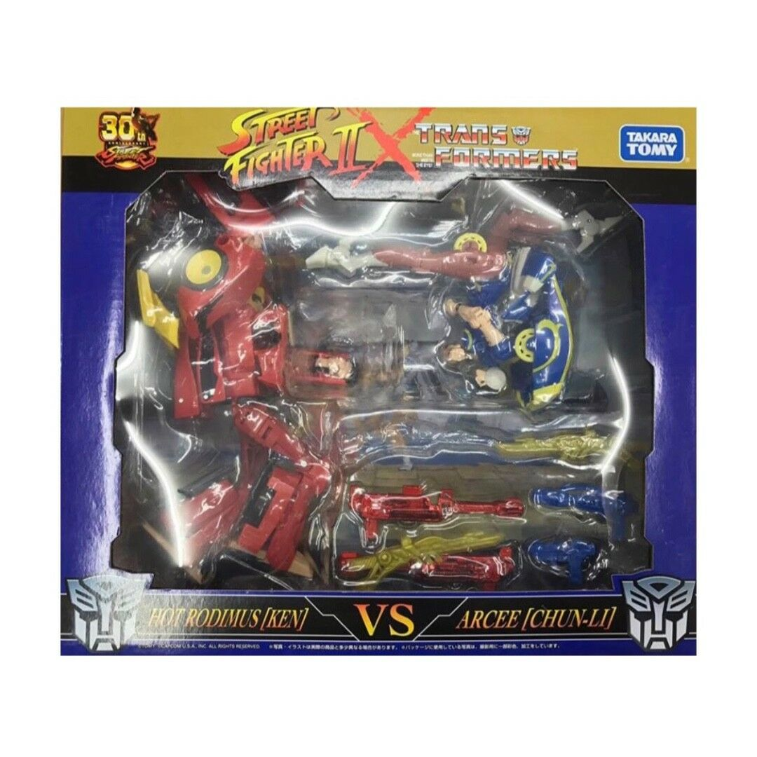 Street Fighter II X Transformers Takaratomy Mall Exclusive Ken Vs Chun Li