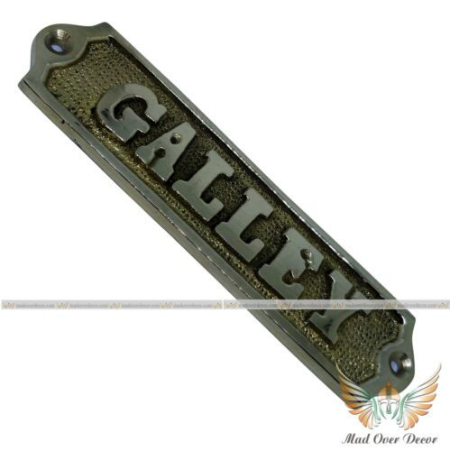 SOLID POLISH BRASS GALLEY DOOR SIGN WALL TAG OFFICE WALL PLAQUE SIGN DECOR ITEM
