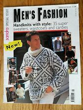 Men's Fashion Sweaters Waistcoats Cardies Sandra Special Issue 5/95 35 to Knit