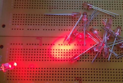 Extra High Brightness 5mm Red LED Stanley UR5366X 630nm 6300mcd 8° Multi Qty