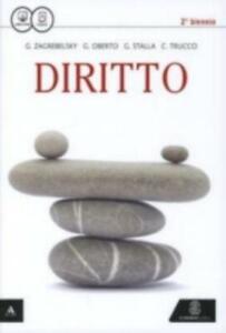 Diritto, Zagrebelsky/Oberto, Editore Lemonnier Scuola, cod:9788800343176