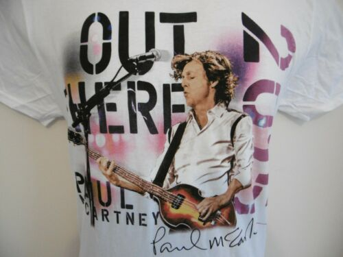 *NEW* OFFICIAL PAUL McCARTNEY MENS OUT THERE TOUR WHITE T SHIRT M XL BEATLES