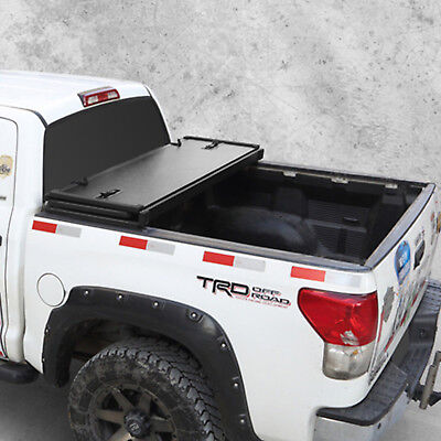Truck Bed Accessories Tri Fold 6 5 Standard Bed Tonneau Cover W Lock For 2004 2018 Ford F 150 Tonno Auto Parts And Vehicles