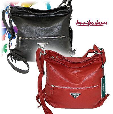 Beuteltasche Kunstleder Schultertasche Hobo Bag Reisetasche Jennifer Jones NEU