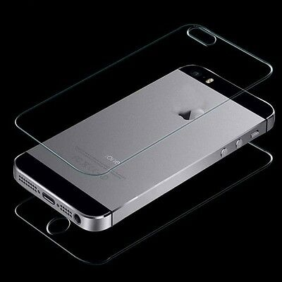 Front + Back Real Premium Tempered Film Glass Screen Protector For Apple iPhone