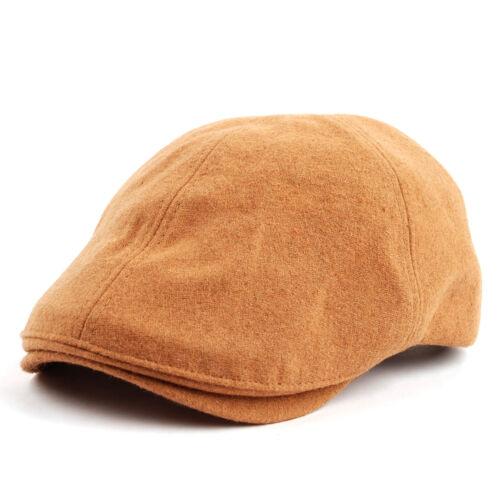 Wool  Adjustable Snap Gatsby Newsboy Hat Cabbie Hunting Flat Cap 809x