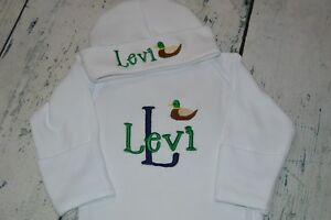 PERSONALIZED Baby Bib Mallard Duck Monogrammed Baby boy Hunting Duck Embroidered