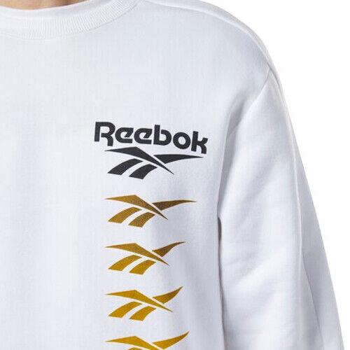 Details about  /Reebok EB3634 Men Classic Vector Crew Sweat LS shirts white