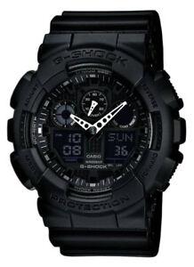 Casio-GA100-1A1-Men-039-s-G-Shock-Black-Resin-Strap-Anti-Magnetic-Ana-Digital-Watch