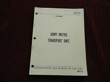 1972 FM 55-31 Army Motor Transport Unit  Field Manual Depart of the Army 14