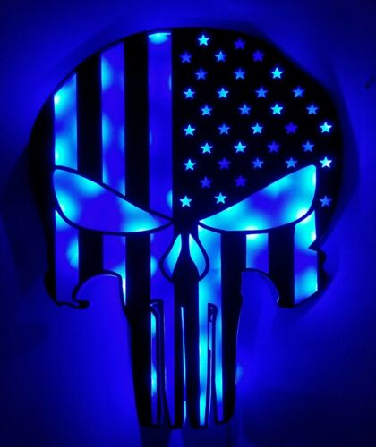 Punisher LED sign Punisher Flag Personalized Punisher man cave light up sign