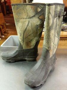 Ozark Trail Hardwoods 5 Waterproof Tall Camo Duck Hunting Rubber Rain Boots Sz 9