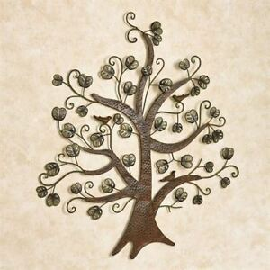 Image Is Loading Wall Art Metal Sculpture Tree And Leaves Home