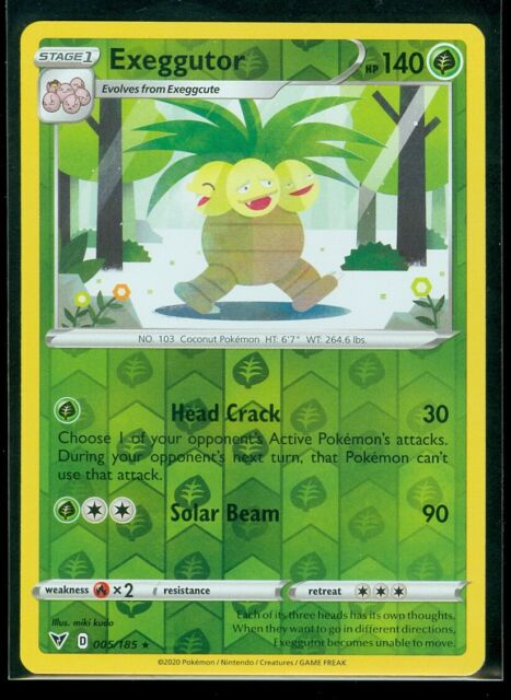 Pokemon EXEGGUTOR 005/185 Vivid Voltage - RARE Rev Holo - - MINT
