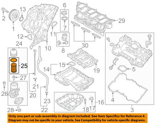 HYUNDAI OEM 10-18 Santa Fe Engine-Oil Filter 263203CAA0