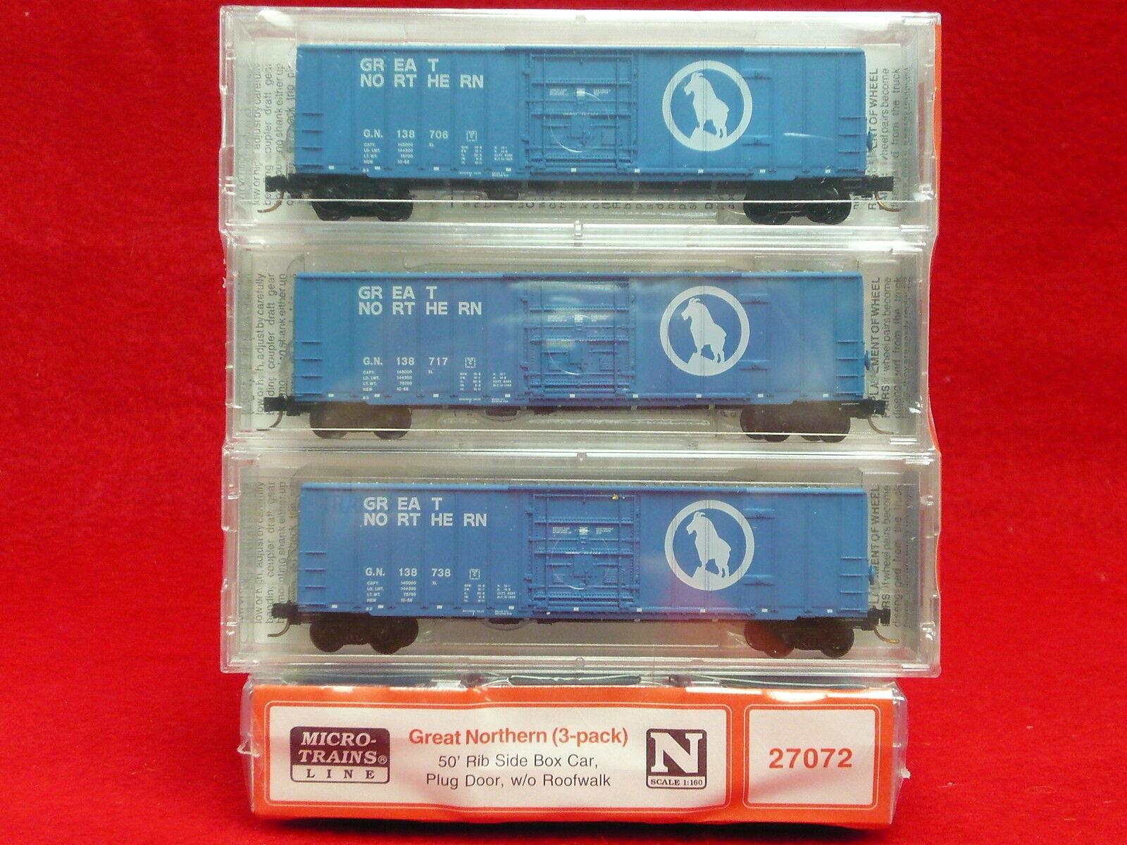 27072 Micro-Trains MTL Great Northern Box Car 3 Pk NIB
