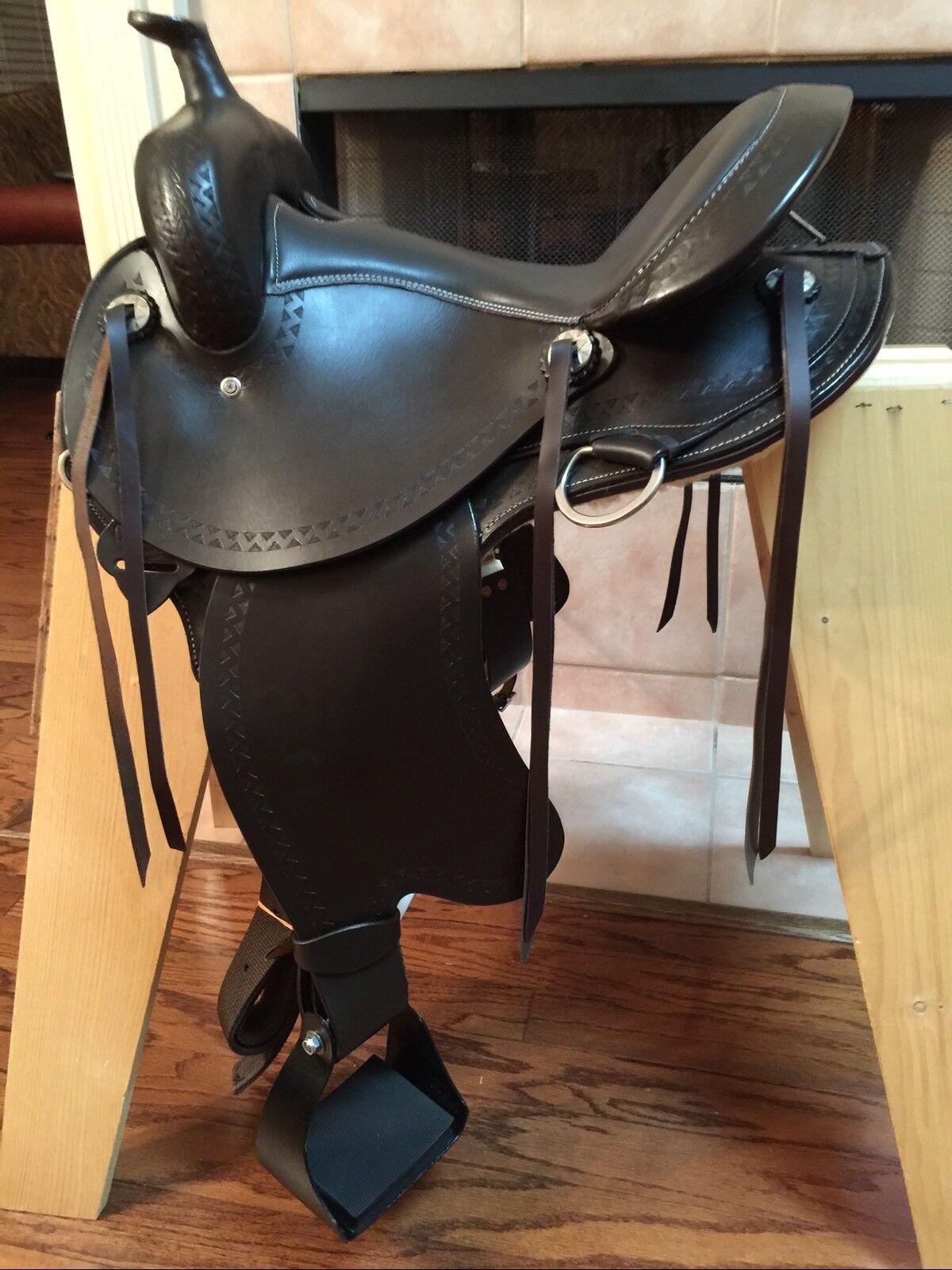 16  TN  Saddlery Gaited Western  Trail Rider  Saddle Brown  enjoy 50% off