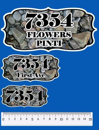 Custom Home Sign Restickables Personalized Plaque 1 ~ Vinyl Address Number Signs