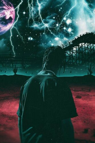 "Travis Scott Days Before Astroworld poster photo print 16x24/"",20x30/"",24x36/"" size"