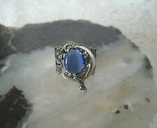 Goddess On Crescent Moon Ring, wiccan pagan wicca witch witchcraft metaphysical