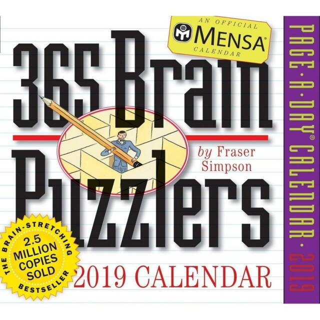 Buy Mensa 365 Brain Puzzlers Page A Day Desk Calendar 2019 Online Ebay