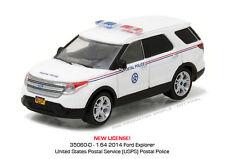 GREENLIGHT 1/64 2014 FORD EXPLORER POSTAL POLICE DIECAST CAR 35060-D