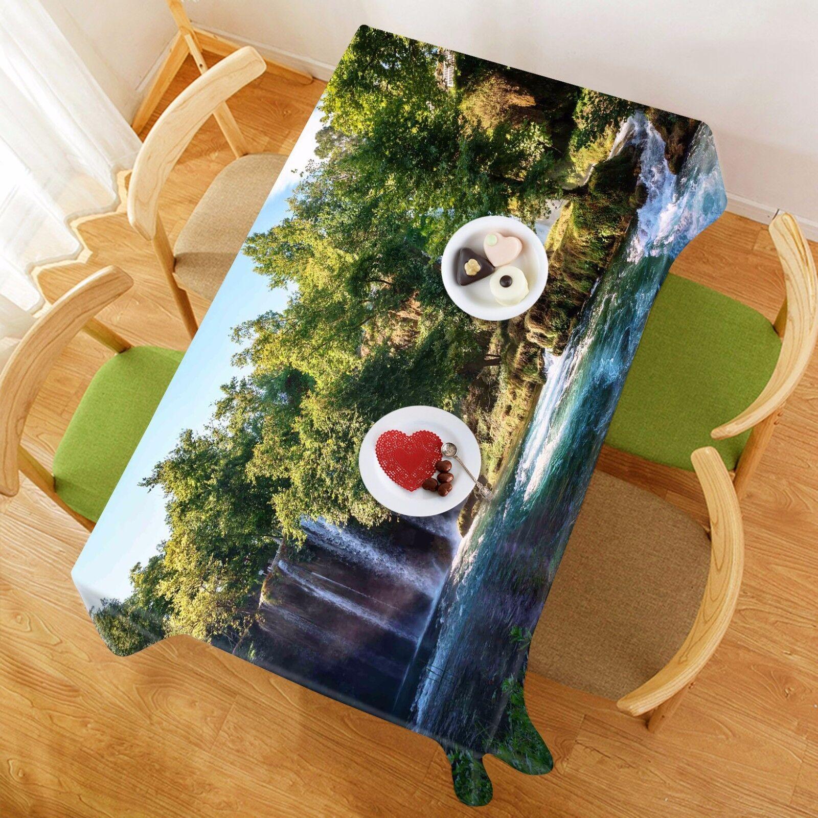 Flujo de árbol de 3D 89 Mantel Mantel Paño Fiesta de Cumpleaños Evento AJ Wallpaper