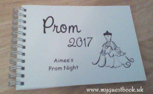 Personalised Graduation School Leaver Message Book PROM 2