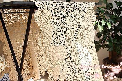 "Beautiful Table Runner~16/""*54/""~Hand Crochet+Cross Stitch~Wedding~Spring Melody"