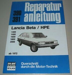 Reparaturanleitung-Lancia-Beta-HPE-1300-1400-1600-1800-2000-ab-1972-Buch-NEU