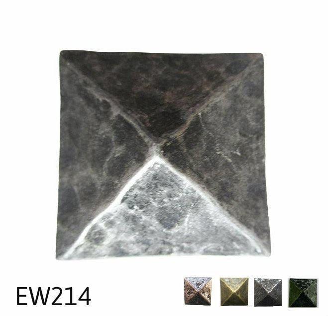 EW214 - Square Pyramid Nail Clavos Head - Head Size  1.4  Nail Length  7 8 - 15