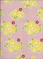 SIDEWALKS FLORAL FLANNEL fabric in Pink for Riley Blake Designs-per 1/2 yard