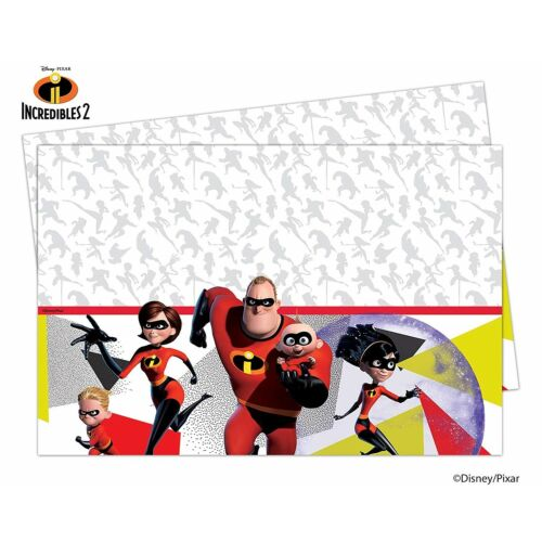 Tableware Decorations Supplies Disney Pixar THE INCREDIBLES 2 Birthday Party