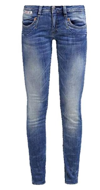 NUOVO  herrlicher herrlicher herrlicher Jeans Pantaloni Donna Piper Sottile Denim in used-ottica art.275113 3ed257