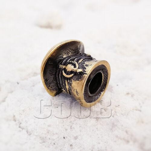 CooB EDC Paracord Bead Beads Charm Bronze CHESHIRE CAT for Bracelet KeyChain