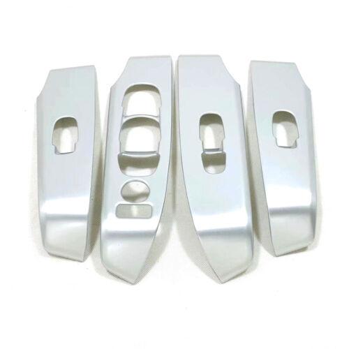 Matte Door Armrest Window Lift Buttons Cover Trim 4pcs For Nissan Altima 2019