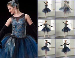 Cameo ROSE Dance Costume Romantic Ballet Tutu with Drop Sleeves AL CL CS /& CXS