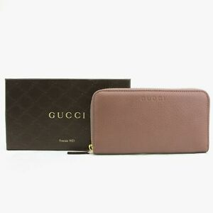 93bfd520f8cf32 Gucci Women's Tan Leather Long/Continental Zip Around Wallet w/Logo ...