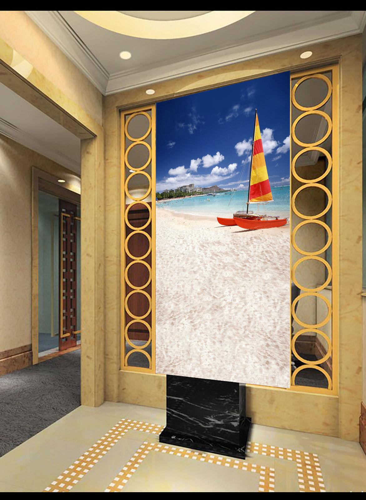 3D Segeln Segeln Segeln Strand 864 Tapete Wandgemälde Tapete Tapeten Bild Familie DE Summer | Verrückter Preis  | Zart  |  8bc7a1